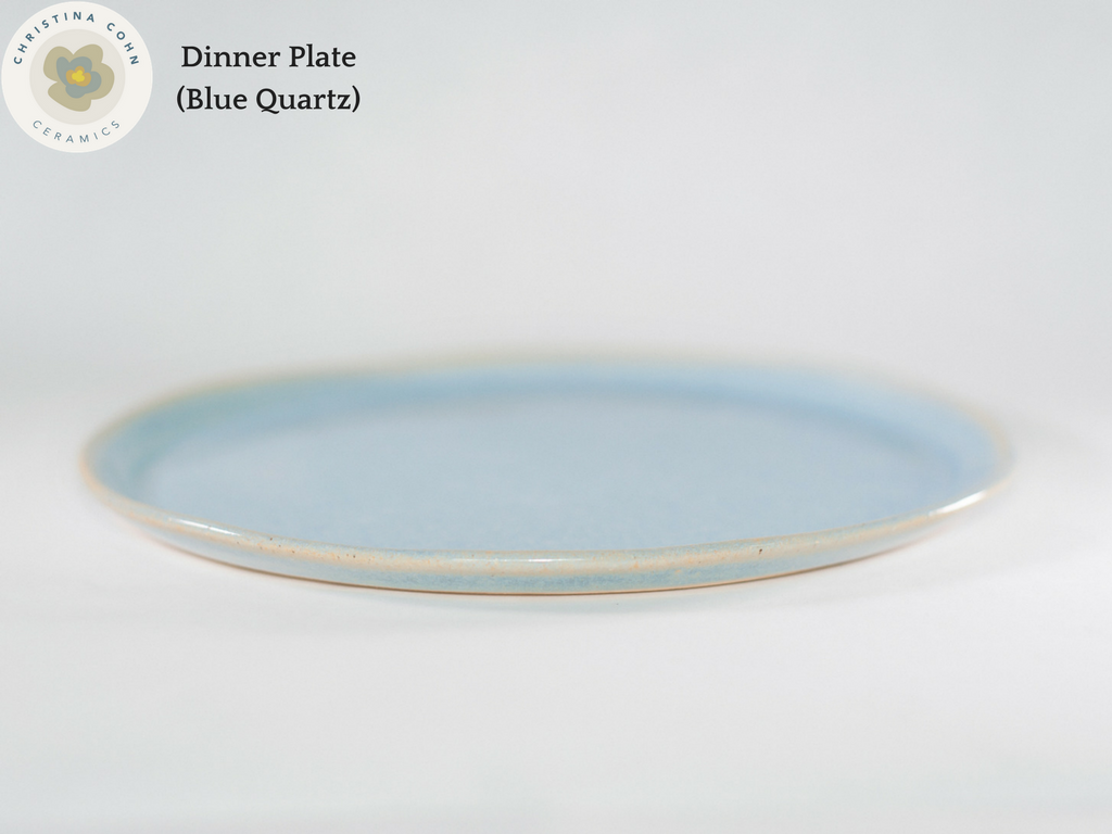Dinner Plate (Blue Quartz) ... & Dinner Plates - Small-Batch Ceramic Dinnerware from Christina Cohn ...