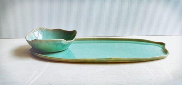 Cloud bowl and organic platter combo - Mermaid