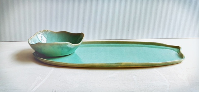 Cloud bowl and organic platter combo - Mermaid