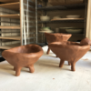Ceramics Workshops Nashville: Red Clay Footed Pots